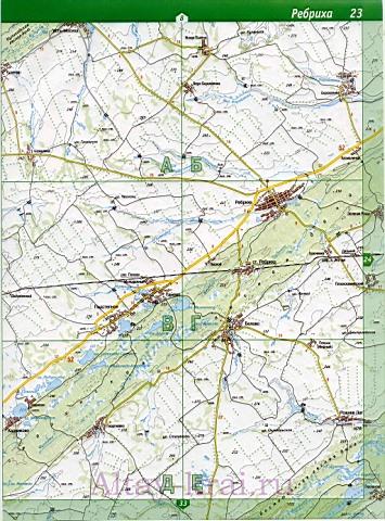 Подробная карта Алтая