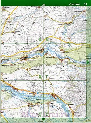 Подробная карта Алтайского