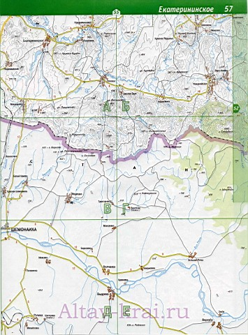 Карта Алтайского края Карта барнаула Карта дорог